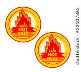 hot sale and deal on fire... | Shutterstock .eps vector #423107362