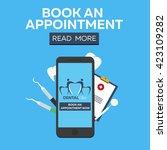 dental clinic banner. book an... | Shutterstock .eps vector #423109282
