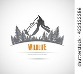 icon wildlife  mountains and... | Shutterstock .eps vector #423122386