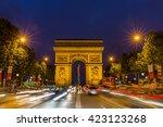 paris  france  july 26.2015  ... | Shutterstock . vector #423123268