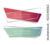 set of vector banners in modern ... | Shutterstock .eps vector #423140062