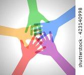 teamwork concept | Shutterstock . vector #423140998