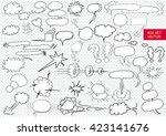 comic blank text speech clouds...   Shutterstock .eps vector #423141676
