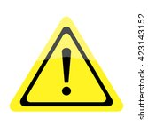 exclamation mark. warning sign... | Shutterstock .eps vector #423143152