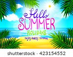 hello summer. poster on... | Shutterstock .eps vector #423154552
