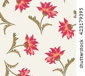 floral seamless pattern.... | Shutterstock .eps vector #423179395