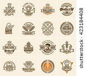 bakery logo  bakery icons set ... | Shutterstock .eps vector #423184408