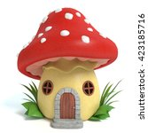 3d Illustration Of A Mushroom...