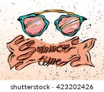 hand drawn vector illustration... | Shutterstock .eps vector #423202426