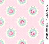 vintage rose pattern. shabby... | Shutterstock .eps vector #423205672