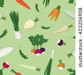various spring vegetables  ... | Shutterstock .eps vector #423206908