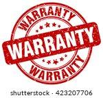 warranty. stamp | Shutterstock .eps vector #423207706