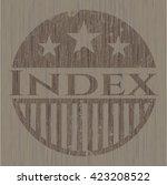 index wood emblem. retro | Shutterstock .eps vector #423208522