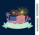 4th july fireworks background ... | Shutterstock .eps vector #423209845