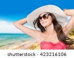 bikini. | Shutterstock . vector #423216106