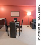 modern dining room in luxury... | Shutterstock . vector #423218092