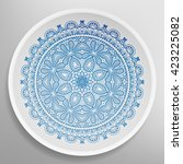 decorative plate with round... | Shutterstock .eps vector #423225082