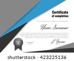 certificate of completion ... | Shutterstock .eps vector #423225136
