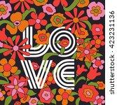 love retro vintage flowers... | Shutterstock .eps vector #423231136