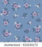 cute pattern in small flower.... | Shutterstock .eps vector #423234172