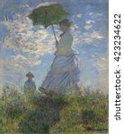 Woman With A Parasol Madame...
