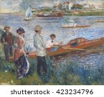 oarsmen at chatou  by auguste... | Shutterstock . vector #423234796