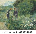 picking flowers  by auguste... | Shutterstock . vector #423234832
