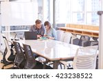 business man and woman working... | Shutterstock . vector #423238522