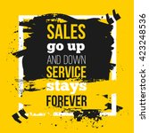 quote sales go up and down ...   Shutterstock .eps vector #423248536