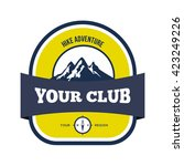 hunting club logo template.... | Shutterstock .eps vector #423249226