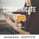 communication online connection ... | Shutterstock . vector #423257278