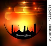 ramadan kareem background | Shutterstock .eps vector #423264796