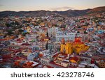 guanajuato after sunset  mexico....   Shutterstock . vector #423278746