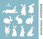 rabbit vector illustration | Shutterstock .eps vector #423282628