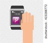 wearable technology design  | Shutterstock .eps vector #423288772