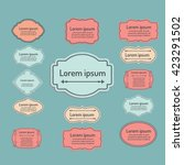 set of vector labels  cutout... | Shutterstock .eps vector #423291502