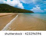 beautiful dam trau beach in con ...   Shutterstock . vector #423296596
