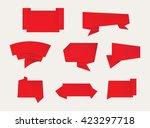 paper banners set.origami... | Shutterstock .eps vector #423297718