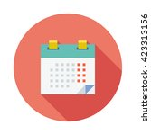 flat vector calendar icon with... | Shutterstock .eps vector #423313156