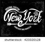 typographic new york writing... | Shutterstock .eps vector #423320128