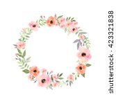 vector flowers set. beautiful... | Shutterstock .eps vector #423321838