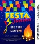 festa junina poster with... | Shutterstock .eps vector #423328882