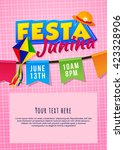 festa junina poster with flags... | Shutterstock .eps vector #423328906