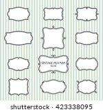 collection of hand draw blank... | Shutterstock .eps vector #423338095