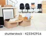 move concept. unpacking... | Shutterstock . vector #423342916