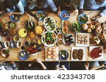 food catering cuisine culinary... | Shutterstock . vector #423343708