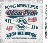 vintage typography  grunge  t... | Shutterstock .eps vector #423349912