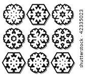 snowflakes | Shutterstock .eps vector #42335023