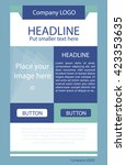 flyer corporate vector layout... | Shutterstock .eps vector #423353635