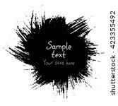 grunge black abstract round...   Shutterstock .eps vector #423355492